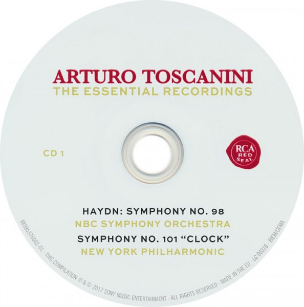 "Arturo Toscanini : the essential recordings CD 1 : Symphony No. 98 ; Symphony No. 101 ""Clock"" / Haydn"